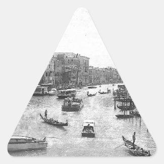 ベニス運河 三角形シール・ステッカー