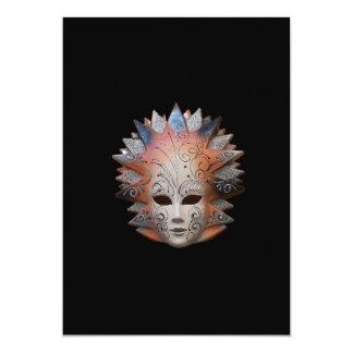 ベニス風のマスクの招待状 カード
