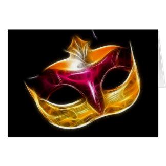 ベニス風のマスク カード