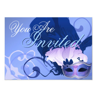 ベニス風の仮面舞踏会のマスクの招待状 カード
