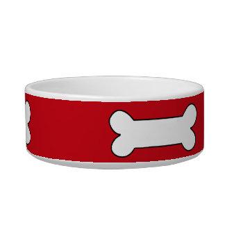 ベニス風の赤くモダンなカラフル 猫のえさ皿