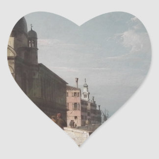 ベニス風のCapriccio、サンタマリアの眺め ハートシール