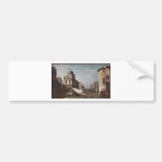 ベニス風のCapriccio、サンタマリアの眺め バンパーステッカー