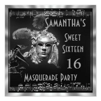 ベニス風のmasquaradeの球16のパーティー カード