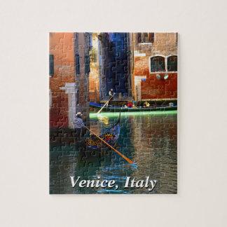 ベニス風運河のゴンドラ ジグソーパズル