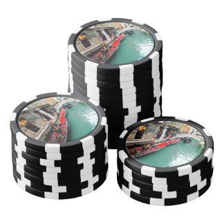 ベニス風運河のゴンドラ ポーカーチップ