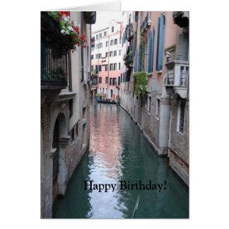 ベニス、イタリアが付いている誕生日の挨拶状 カード