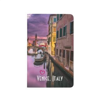ベニス、イタリアの景色運河及びベニス風の建築 ポケットジャーナル