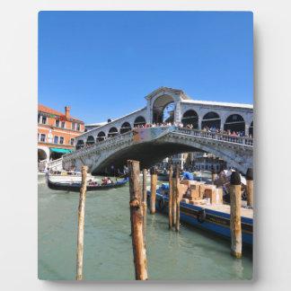 ベニス、イタリアのRialto橋 フォトプラーク
