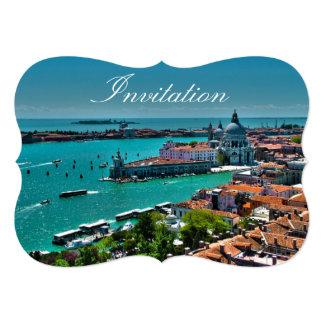 ベニス、イタリア-空中写真 カード
