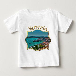 ベニス、イタリア-空中写真 ベビーTシャツ