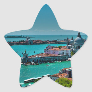 ベニス、イタリア-空中写真 星型シール