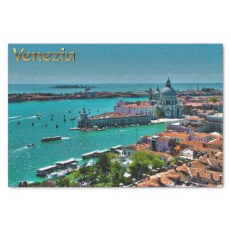 ベニス、イタリア-空中写真 薄葉紙