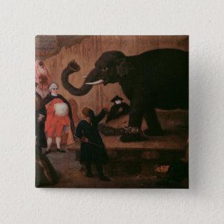 ベニス(キャンバスの油)で示されている象 5.1CM 正方形バッジ