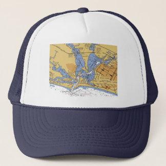 ベニス、フロリダ航海のな港の図表の帽子 キャップ