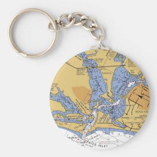 ベニス、フロリダ航海のな港の図表Keychain キーホルダー