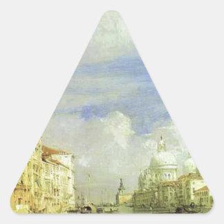 ベニス。 大運河。 リチャードParkes Bonington 三角形シール・ステッカー