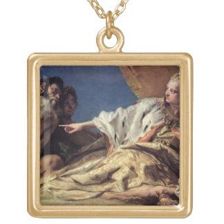 ベニス(天井のフレスコ画)へのネプチューン提供のギフト ゴールドプレートネックレス