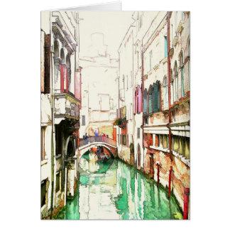 ベニス-狭い運河.........カード カード