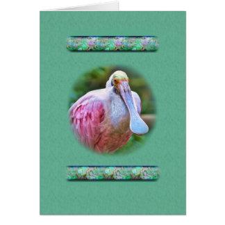 ベニヘラサギの鳥カード カード