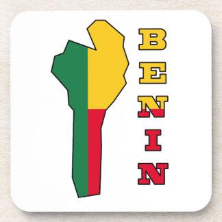 ベニンの地図の旗 コースター
