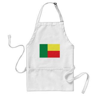 ベニンアフリカの旗アイコン スタンダードエプロン