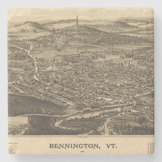 ベニントン、ヴァーモントのヴィンテージの地図 ストーンコースター