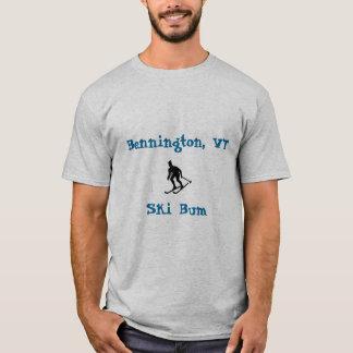 ベニントン、VTは、のらくら者スキーをします Tシャツ