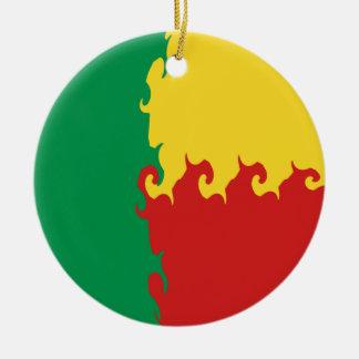 ベニン|すごい|旗 クリスマスツリーオーナメント