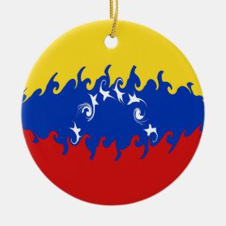 ベネズエラのすごい旗 セラミックオーナメント