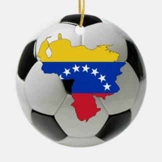ベネズエラのフットボールのサッカーのオーナメント セラミックオーナメント