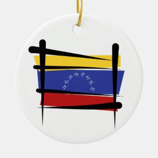 ベネズエラのブラシの旗 セラミックオーナメント