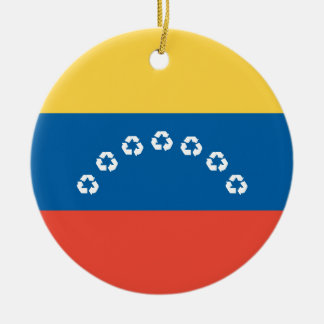 ベネズエラのリサイクルの旗 セラミックオーナメント