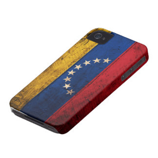 ベネズエラの古い木の旗 Case-Mate iPhone 4 ケース