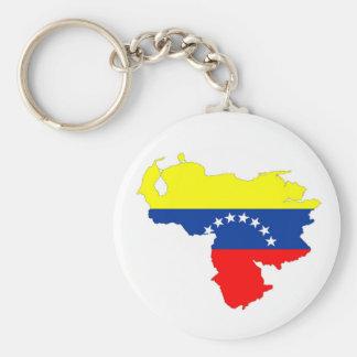 ベネズエラの国旗の地図の形の記号 キーホルダー