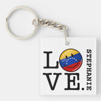 ベネズエラの微笑の旗からの愛 キーホルダー