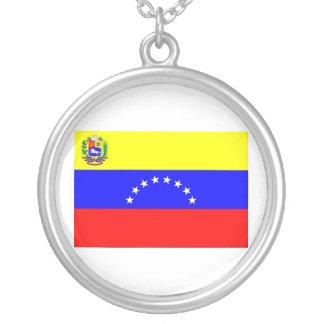 ベネズエラの旗 シルバープレートネックレス