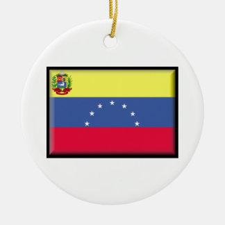 ベネズエラの旗 セラミックオーナメント