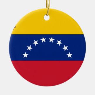 ベネズエラの旗-ベネズエラ- Banderaの旗 セラミックオーナメント
