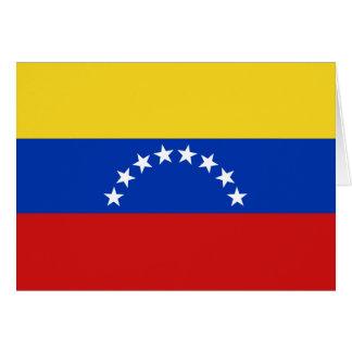 ベネズエラの旗Notecard カード