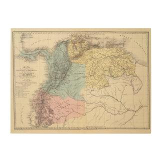 ベネズエラの歴史的軍の地図 ウッドウォールアート