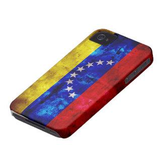 ベネズエラの風化させた旗 Case-Mate iPhone 4 ケース