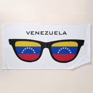 ベネズエラはカスタムな文字のビーチタオルを影で覆います ビーチタオル
