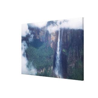 ベネズエラ、エンジェルフォールのCanaimaの国立公園 キャンバスプリント