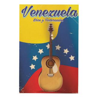 ベネズエラDios y Federación旅行ポスター ウッドウォールアート