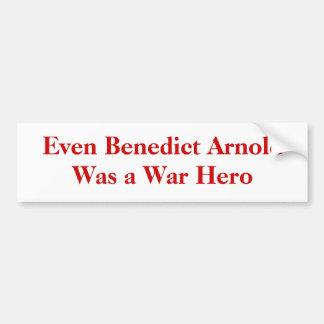 ベネディクトアーノルドは戦争の英雄でした バンパーステッカー
