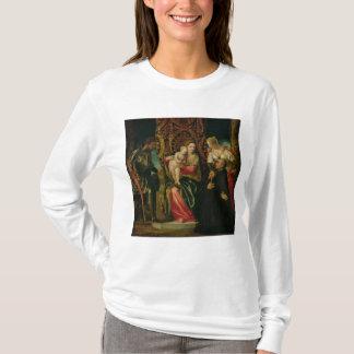 ベネディクト会の修道士を持つヴァージンそして子供 Tシャツ