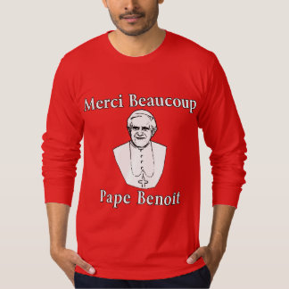 ベネディクトMerci Beaucoupの法皇 Tシャツ