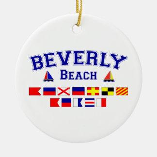 ベバリィのビーチ、FL -航海のな旗のスペリング セラミックオーナメント