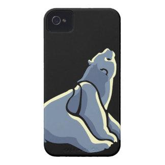 ベビーくまの芸術のブラックベリーの箱くまはギフトに耐えます Case-Mate iPhone 4 ケース